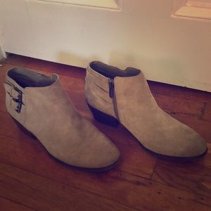 Tan fall booties